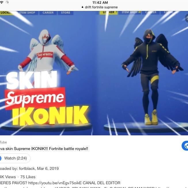 Skin Ikonik Supreme Produits Sur Le Theme Fortnite Skin Redbubble