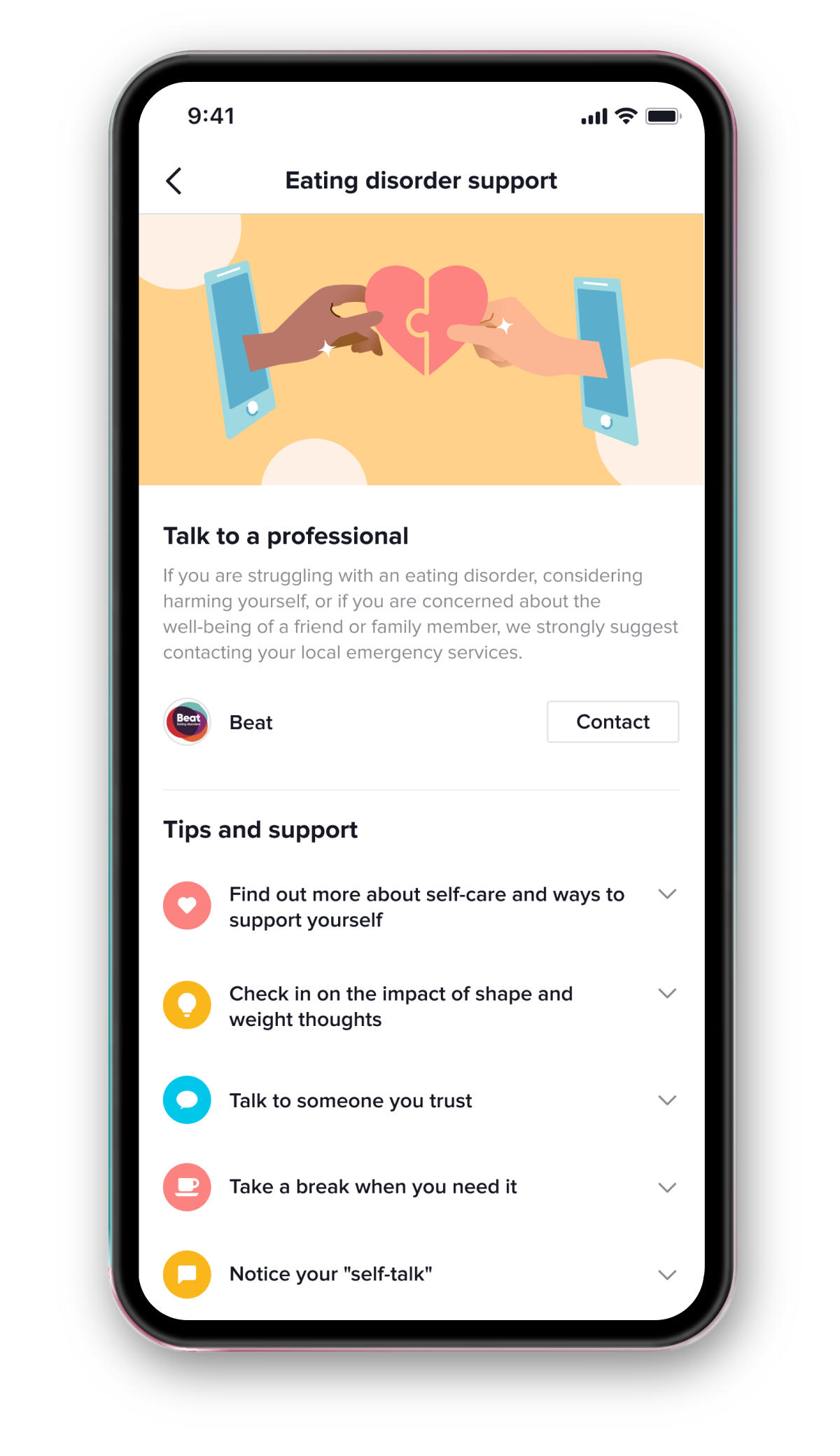 In-app support