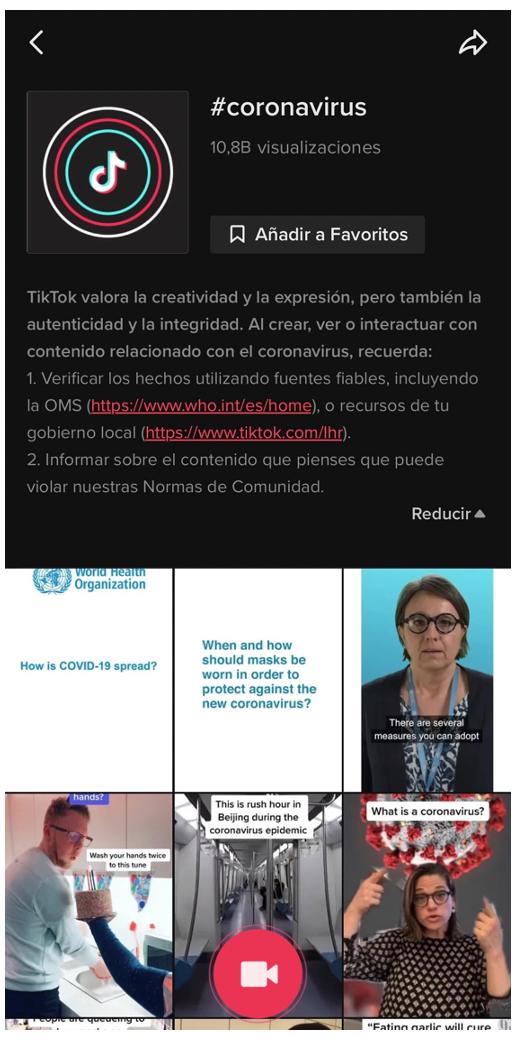 TikTok comprometido a combatir las noticias falsas.